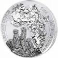 RWANDA 1 oz silver MEERKAT 2016