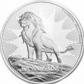 1 oz silver 25th anniversary LION KING 2019 $2