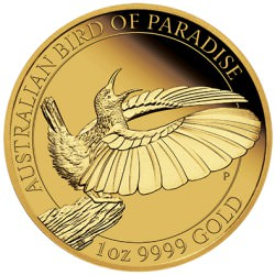 1 oz GOLD Bird of Paradise Manucodia 2019
