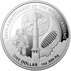 RAM 1 oz silver 50th Anniversary of the Moon Landing 2019 $1