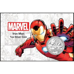 Perth Mint 1 oz silver 2018 MARVEL IRON MAN $1in card