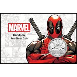Perth Mint 1 oz silver 2018 MARVEL DEADPOOL $1 in card