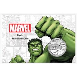 Perth Mint 1 oz silver 2019 MARVEL HULK $1 in card