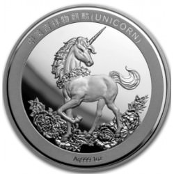 CHINA 1 oz silver UNICORN 25th Anniversary 2019