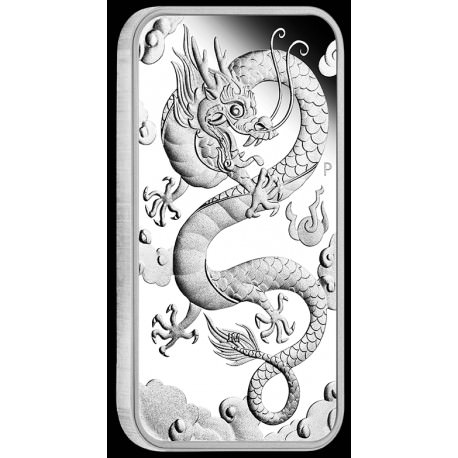 Dragon 2019 1oz Silver Proof Rectangular Coin