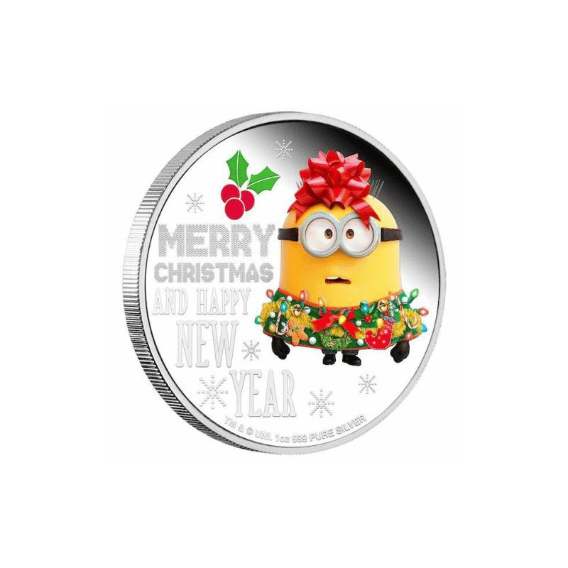 Minion Christmas 2019 1oz Silver Proof Coin Goldsilver Be