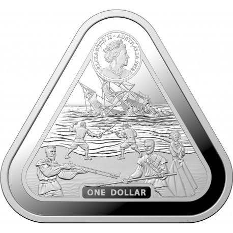RAM 1 oz silver TRIANGULAR silver coin BATAVIA 2019