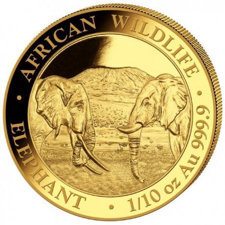 GOLD 1/10 oz ELEPHANT 2019 SOMALIA