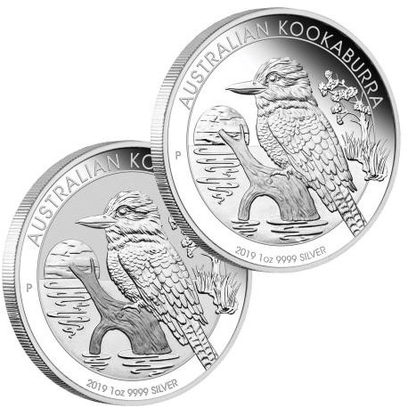 ANDA Melbourne Money Expo Special - Australian Kookaburra 2019 1oz Silver Two-Coin Set